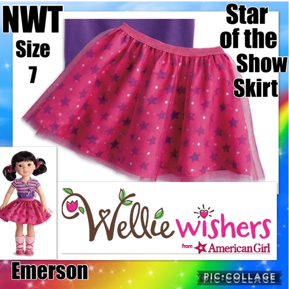 da69d54b92 American Girl Bottoms   Nwt Star Of The Show Skirt Size 7   Poshmark
